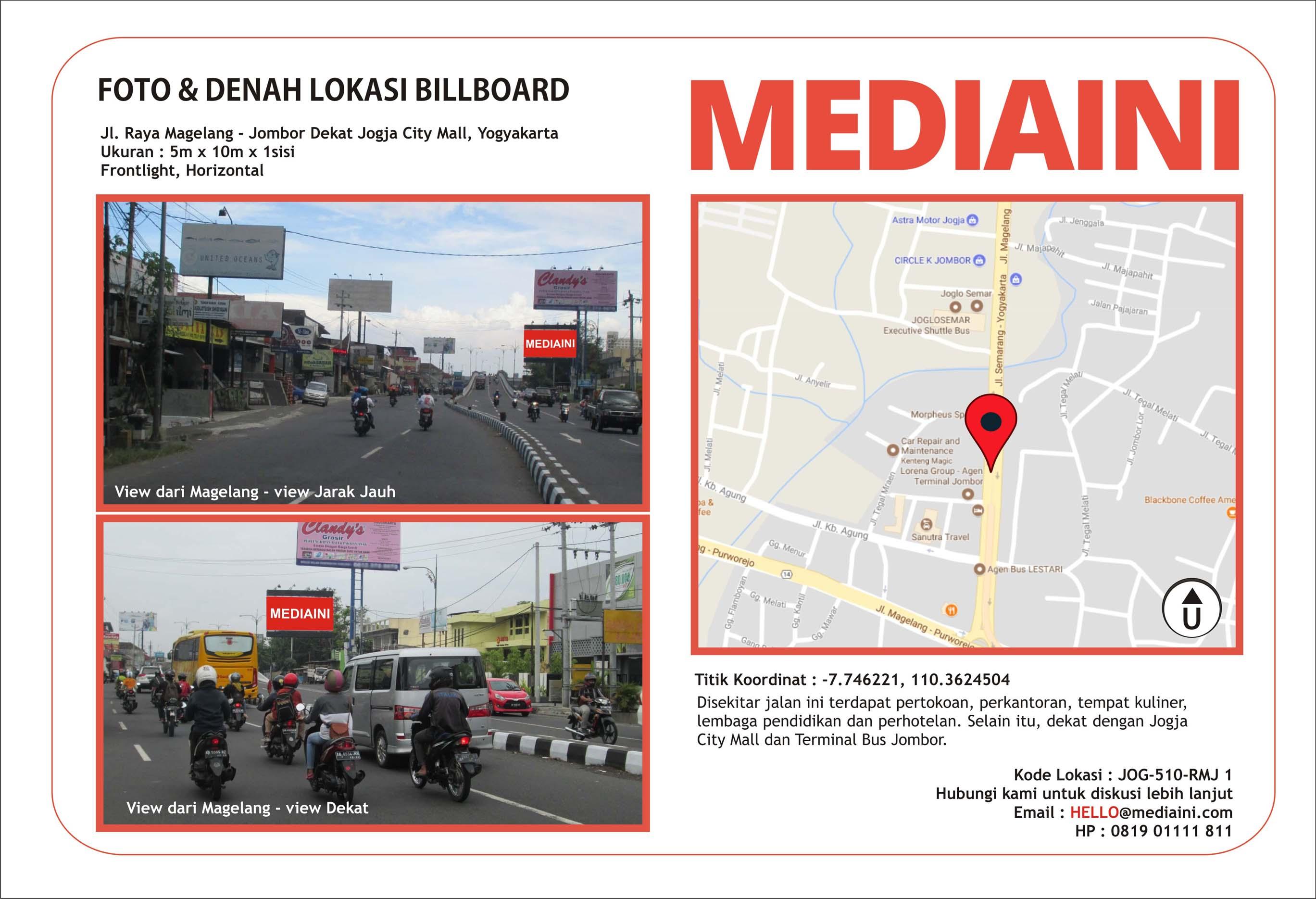 billboard di yogyakarta jl. raya magelang - jombor dekat jogja city mall (1)